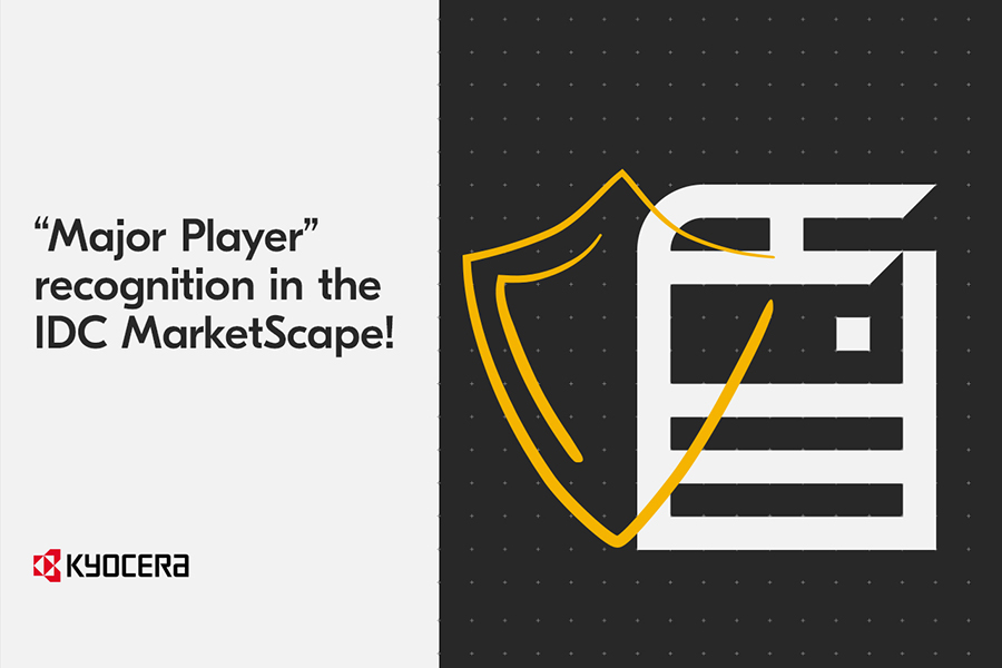 """Kyocera nominalizata ca """"Jucator Major"""" in raportul IDC MarketScape 2019-2020"""